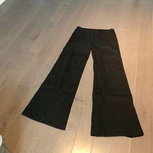 Theory Black Wide Leg Linen Pants, size 4